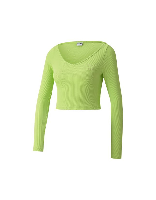 Classics Ribbed Long sleeve Cropped Top - 3