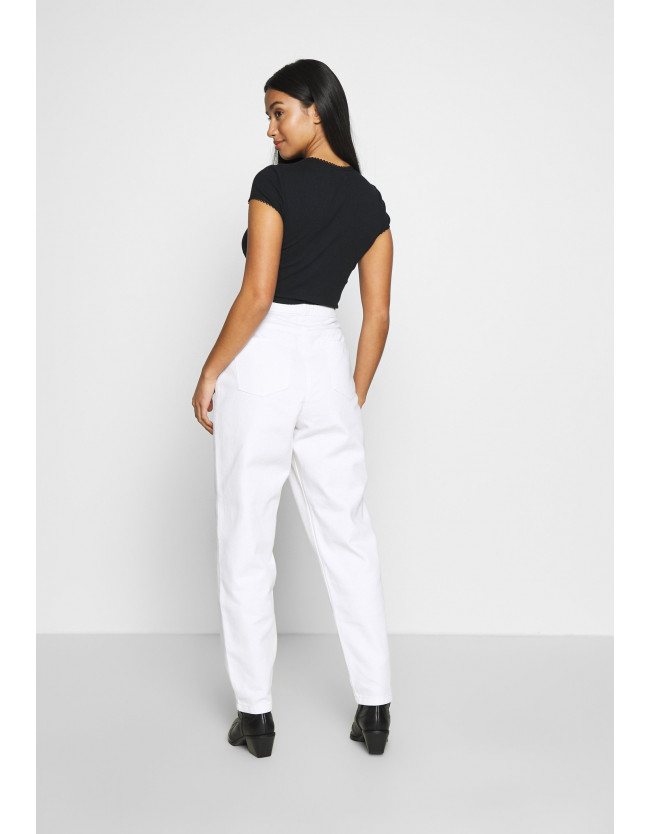 RIOT HIGHWAIST  MOM JEANS - белые джинсы - 3