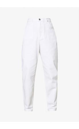 RIOT HIGHWAIST  MOM JEANS - white denim - 2