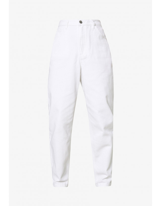 RIOT HIGHWAIST  MOM JEANS - белые джинсы - 2