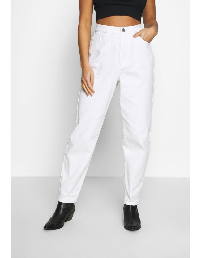 RIOT HIGHWAIST  MOM JEANS - белые джинсы - 4