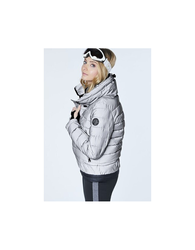 Siguang Women, Padded Jacket, Loose Fit silver/reflective - 2