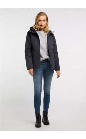 Зимняя темно-синяя куртка - 1