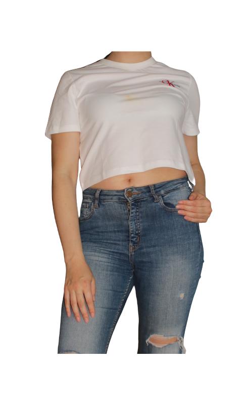 T-krekls Calvin Klein (lietots, ir traips) - 1