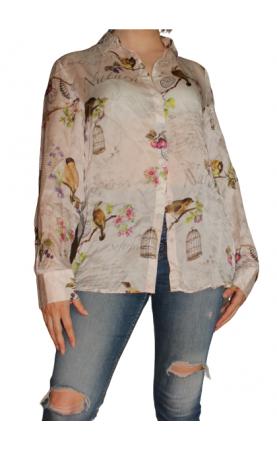 Шелковая рубашка La Belle Francaise Paris - 1